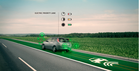Electric car priority lane